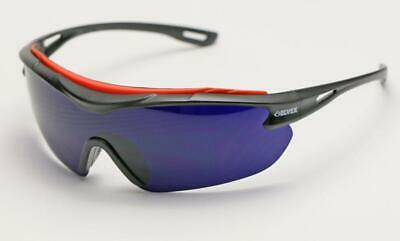 Elvex Brow-Specs™ Foundry/Fabrication/Sun/Safety Glasses Cobalt Blue A/F Lens