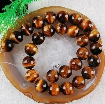 6mm African Roar Tiger's Eye Round Loose Beads 15''