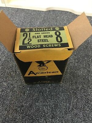"The American Screw Company 2 1/2"" Vintage Slotted Flat Head Steel Screw"