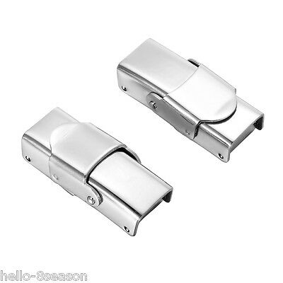 5PCs Stainless Steel Silver LockLogin Clasp For 25x11.5mm Leather Bracelet