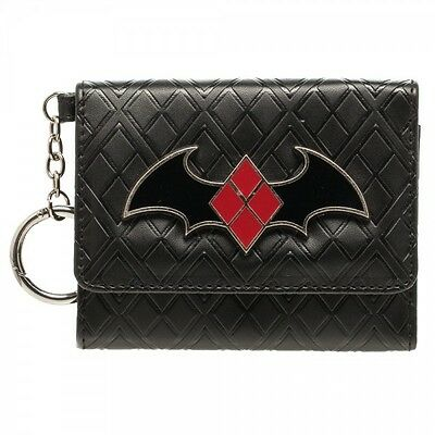 Authentic DC COMICS Suicide Squad Harley Quinn Mini Trifold Wallet NEW