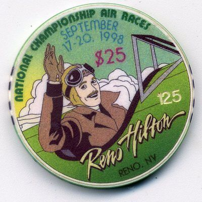 Reno Hilton  $25 Air Races  1998  Casino Chip