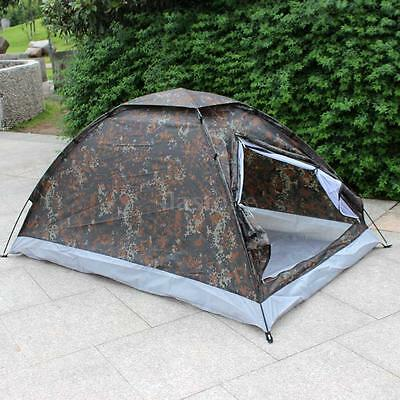 Fast Quick Easy Pitch 2 Man Pop Up Waterproof Two Person Dome Tent Camping P3V8