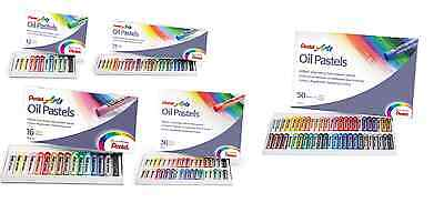 Pentel Arts Oil Pastels Sets-  Fade Resistant -Bright Colours-Easily Blendable