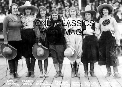 1921 Real Rodeo Cowgirls Cowboy Photo Western Hats On Cute And Sexy Tough Girls