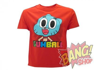 T-Shirt Bimbi Gumball Maglietta Originale Cartoon Network Banana Joe Anais
