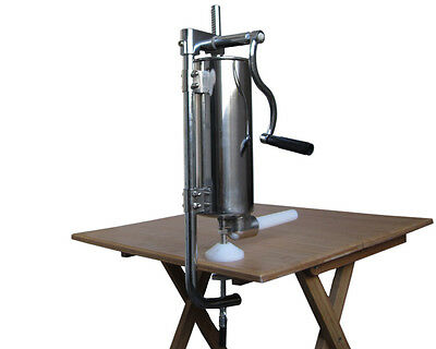 New 4L 4 LITRE Stainless Steel Commercial Vertical Sausage Stuffer Machine Maker