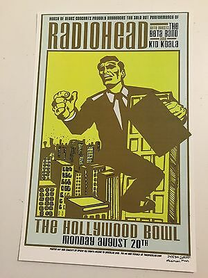Radiohead Speed Concert Poster Hollywood Bowl 2001
