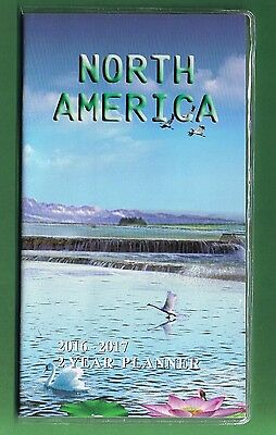 North America 2016-2017 - 2 Year Pocket Calendar Agenda Planner Appointment Book