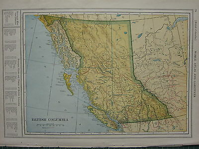 1926 Map ~ British Columbia Electoral Districts Vancouver Queen Charlotte