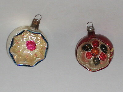 glass christmas ornament antique west german vintage decoration 1950s