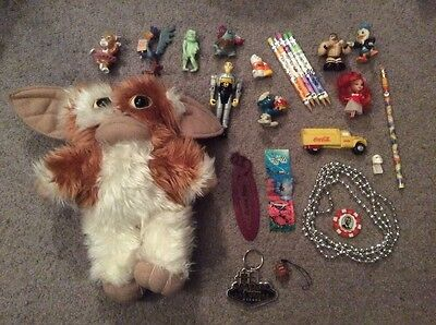 Large Lot of Various Figures, PVC & More w/ 2001 GREMLINS GIZMO Plush & Pokemon