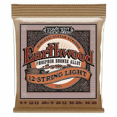 Ernie Ball Earthwood Phosphor Bronze 12 String Light Acoustic Guitar Strings