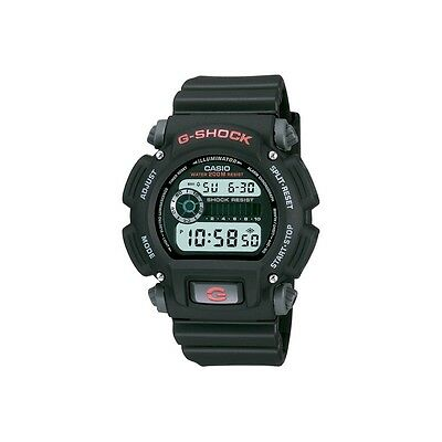 Mens Casio G-Shock Black Rubber Alarm Timer Digital Sport Watch DW9052-1V