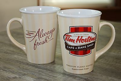 Tim Hortons 2012 Set of 2 Limited Edition Coffee Mugs Cups Cafe & Bake Shop