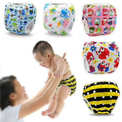 Reusable Adjustable Swim Nappy Diaper Leakproof Baby Infant Boy Girl Toddler NEW