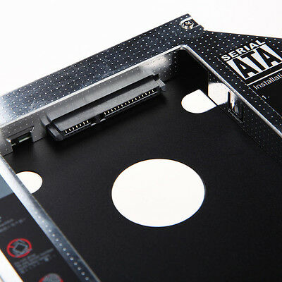 SATA 2nd HDD SSD Hard Drive Caddy for 12.7mm CD/DVD-ROM Optical Bay Laptop YU CA