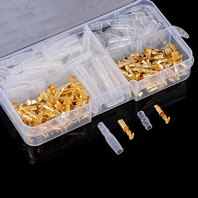 120pc/box Brass Bullet  3.5mm Connector Terminal Male & Female with Cover