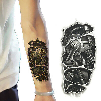 New Temporary Large Tattoo Arm Body Art Removable Waterproof Fake Tattoo Sticker