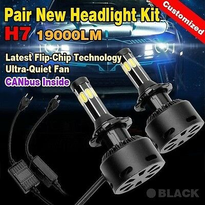 H7 Cree 180W 19000Lm Led Car Headlight Kit High Low Beam Vehicle Replace Xenon