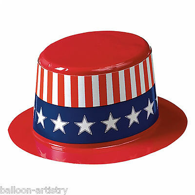 3 Sports America USA American Flag Patriotic Party 11.4cm Mini Plastic Top Hats