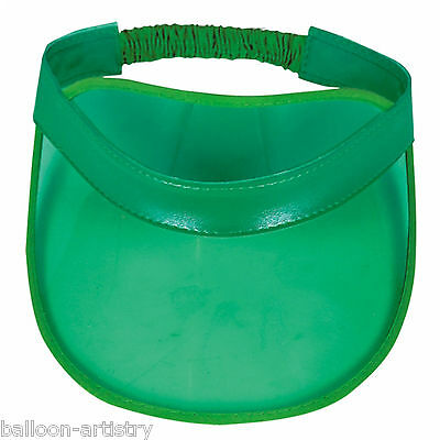 Classic Casino Poker Night Party Hat Card Dealer Croupier Green Plastic Visor