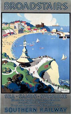 Broadstairs (old rail ad.) fridge magnet  (se)