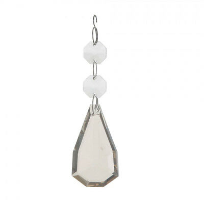 Chandelier 3 Bead Crystal Effect Droplet Smooth Facets & Defined Edges Litecraft