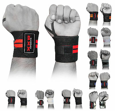 Power Weight Lifting Wrist Wrap Wraps Supports Camo Gym Workout Fist Straps