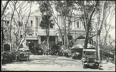 Old Rare Postcard The Entrance Mount Lavinia Hotel Ceylon Unused (Ref: LF735)