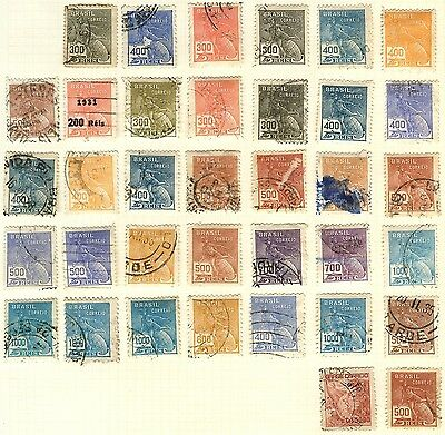 Brazil Stamp Collection On Loose Album Page (Ref: C221)