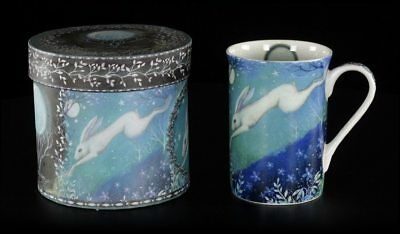 Porzellanbecher - Moonlight by Amanda Clark - Fantasy Teetasse mit Hase Tasse