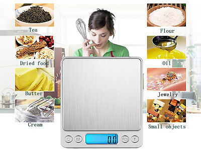 500g 0.01g Digital LCD Precision Weight JEWELLERY Food Electronic Lab Scale AU