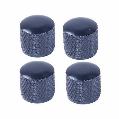 4 Pcs Metal Electric Guitar Bass Tunning Dome Tone Knob Knobs for Tele Black