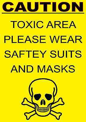 caution toxic area Health & Safety sign