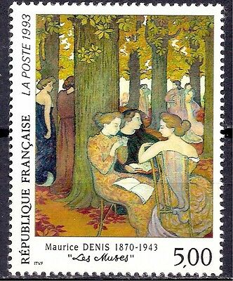 France 1993 M. Denis/Artists The Muses/Painting Art 1v MNH