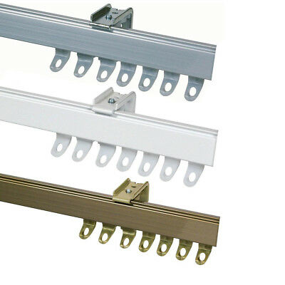 Fineline Metal / Aluminium Curtain Track suitable for straight or bay windows
