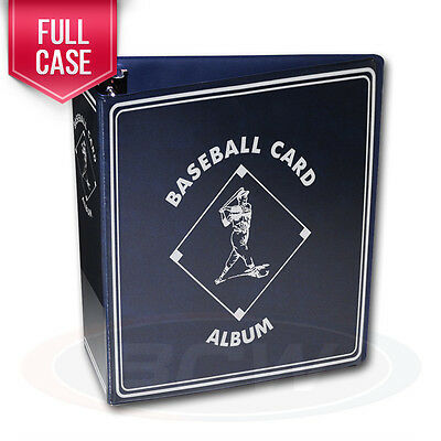 """Case of 12 BCW Blue Baseball Card Collection 3"""" D-Ring Albums binders books"""