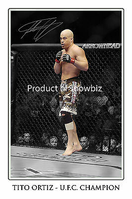 * Tito Ortiz, Large Signed Autograph Print, Looks Great On The Wall!!!!!