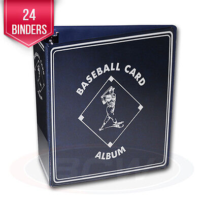 """24 BCW Blue Baseball Card Collection 3"""" D-Ring Albums binders books"""