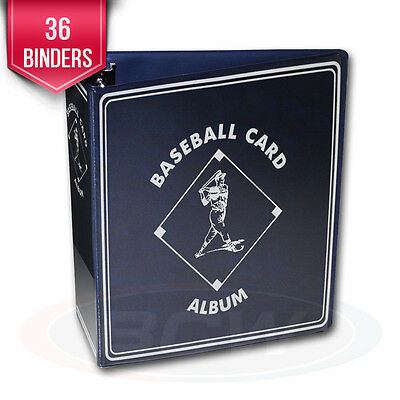 """36 BCW Blue Baseball Card Collection 3"""" D-Ring Albums binders books"""