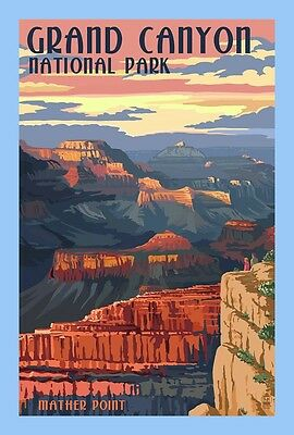 Ten (10) Replica Prints Of Vintage National Park Ads