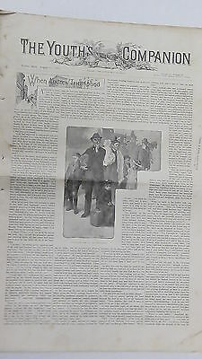 Original Antique Newspaper & Advertising, The Youth's Companion, August 11 1898