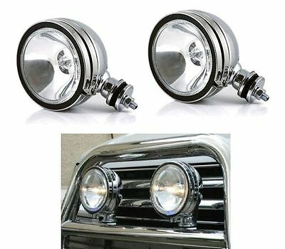 "4"" 5"" 6"" Chrome White Angel Eye Halogen Spotlight Fog Car Spot Lights Foglights"