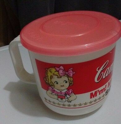 1992 Campbell's Soup Plastic Soup Cup with Lid Hot ' Handy Microwave Mug