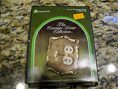 Amerock Outlet Duplex Cover Switch Plate Combo Brass Carriage House C-9085-AE