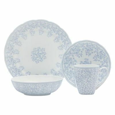 NEW Maxwell & Williams Cashmere Charming Bluebells 16-Piece Dinner Set