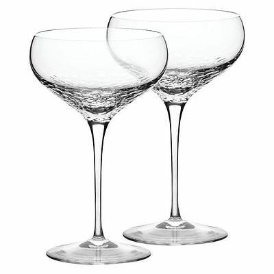 NEW Vera Wang Wedgwood Sequin Champagne Saucer (Set of 2)