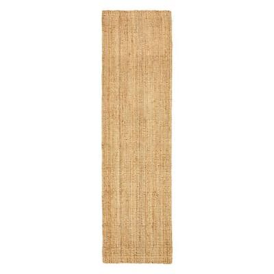 NEW Rug Culture Torpoint Chunky Weave Jute Runner Rug, Natural