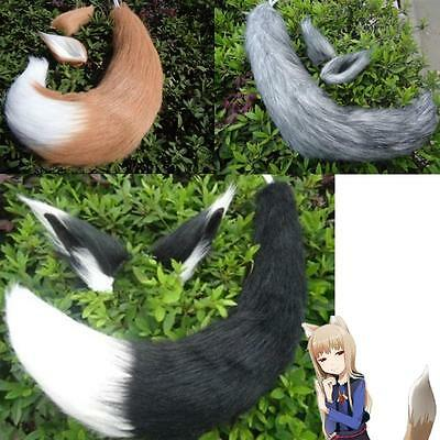 Japan Anime Spice and Wolf Holo Fox Ear + Tail Halloween Cosplay Props